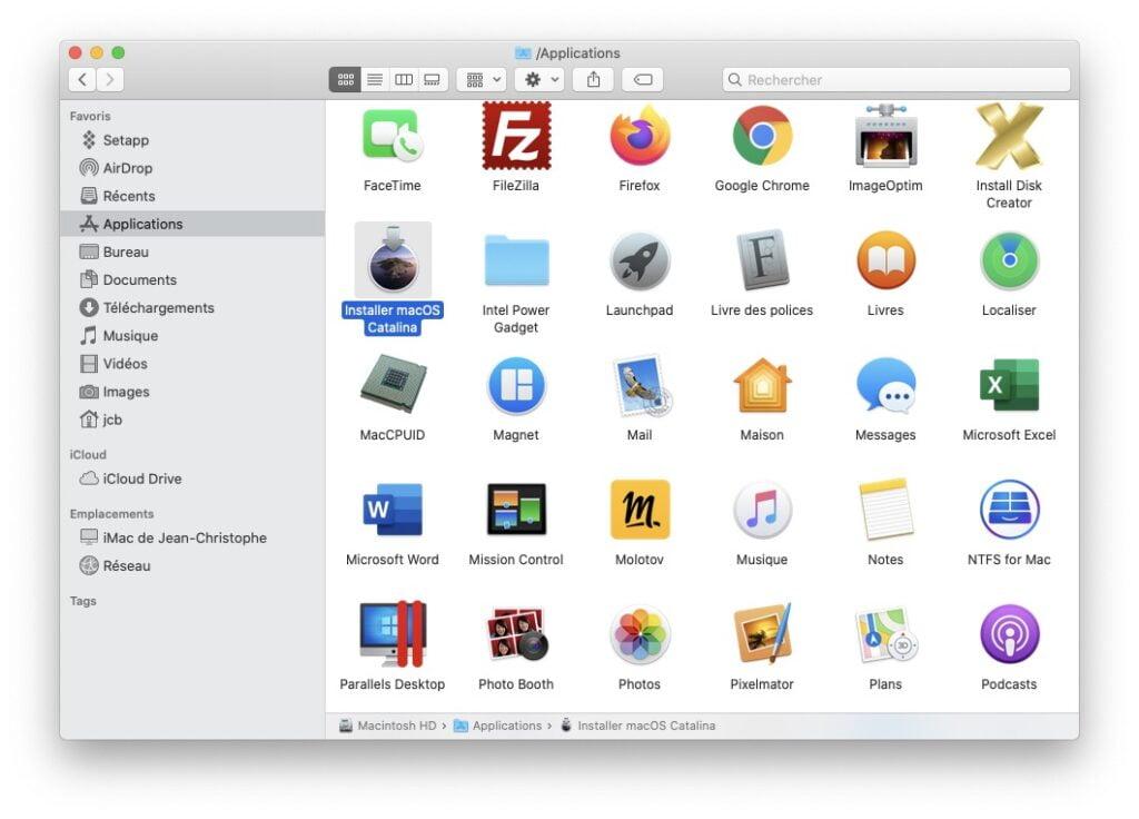 Convertir le fichier d'installation macOS en iSO a partir du fichier app