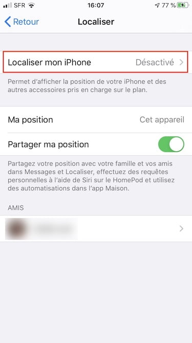 Downgrade iOS 14 desactiver localiser mon iphone