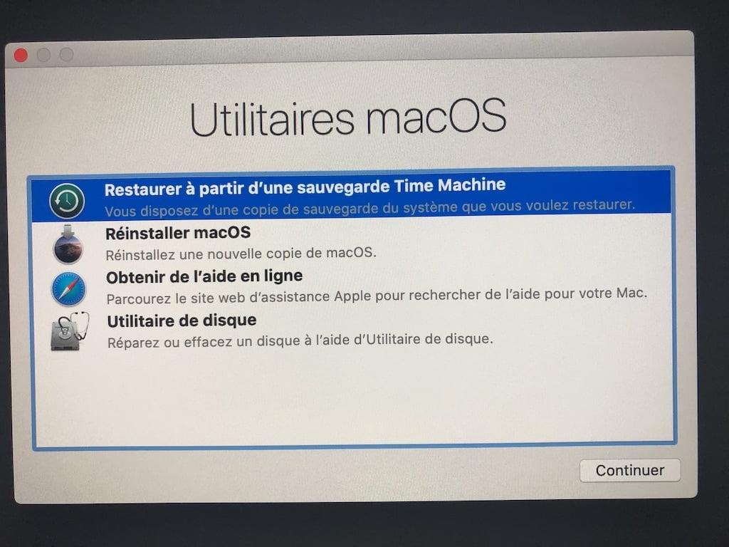 Downgrade macOS Big Sur to macOS Catalina Time Machine
