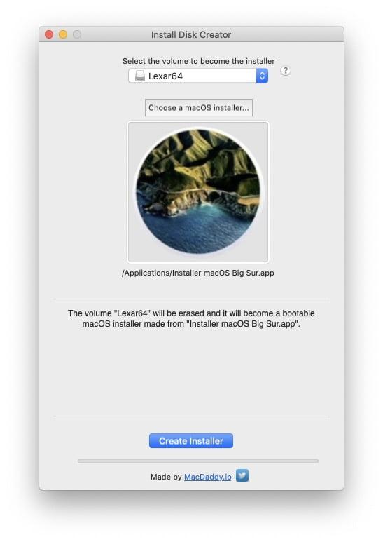 Installation propre macOS Big Sur avec une cle usb de demarrage