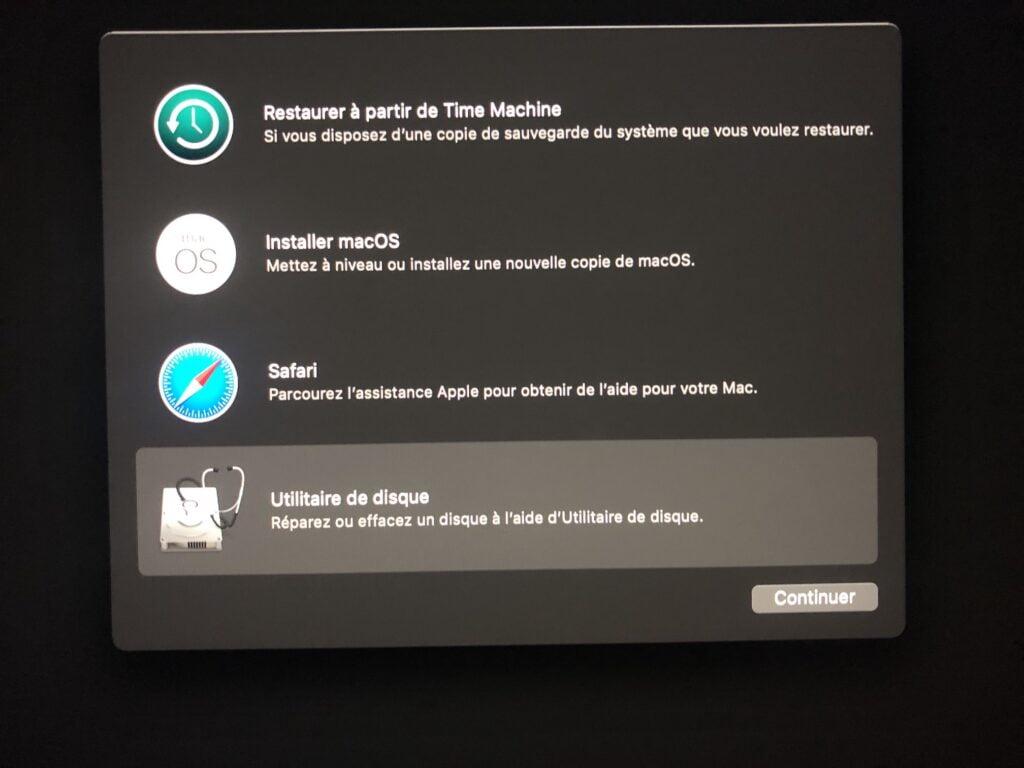 Installation propre macOS Big Sur formater disque