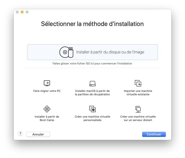 Installer macOS Big Sur avec VMware Fusion depuis fichier installation macos