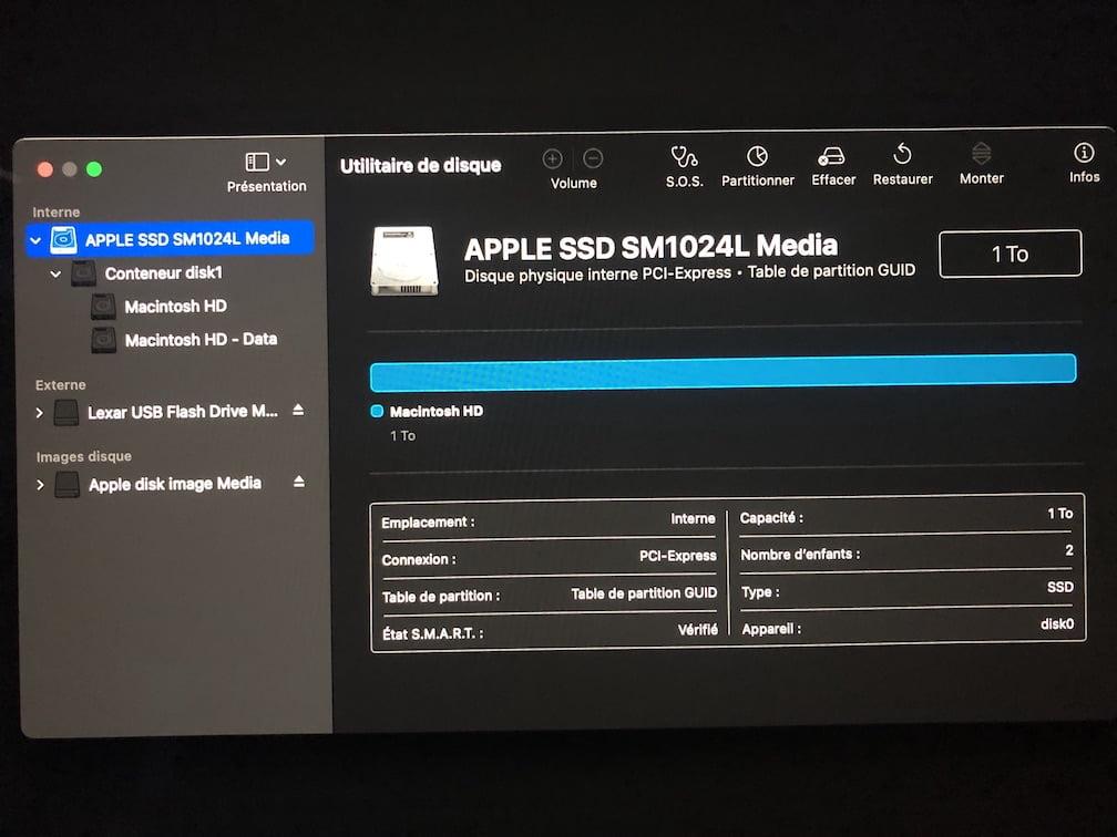 formater disque macos pour installer macos big sur
