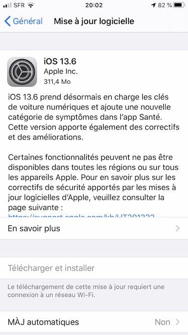 iOS 13.6 maj OTA