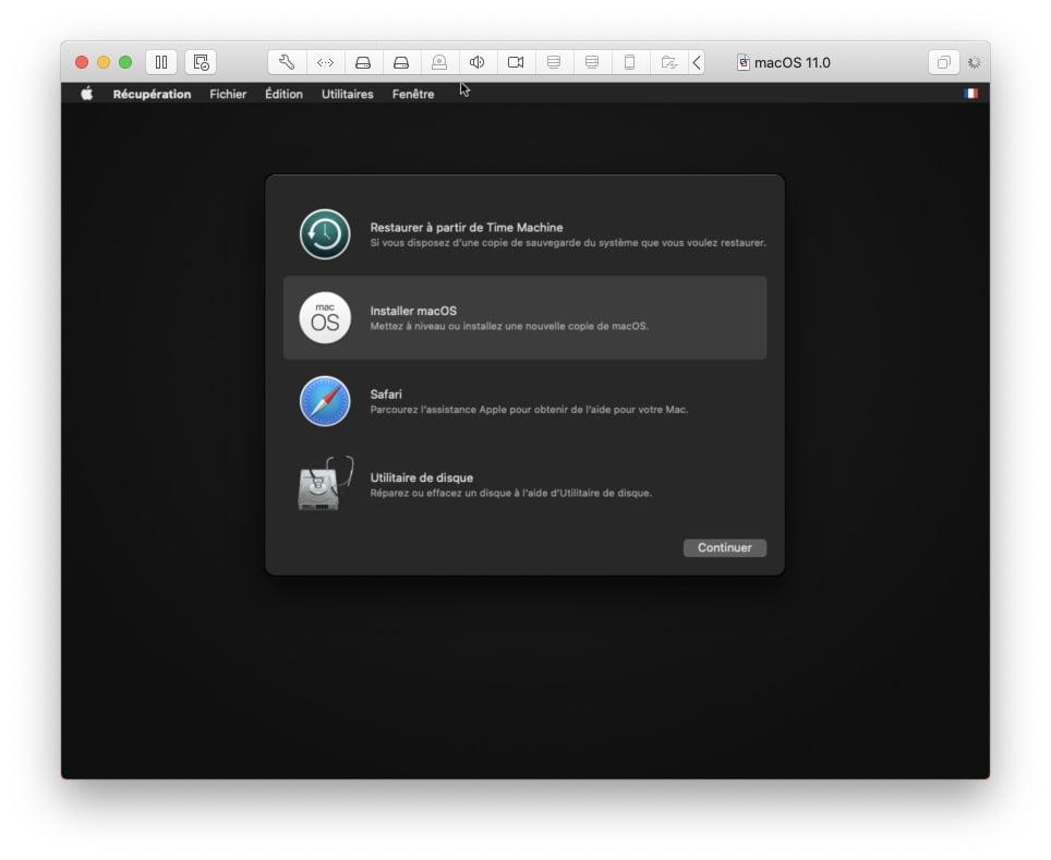 installer macos big sur 11 via vmware fusion pro