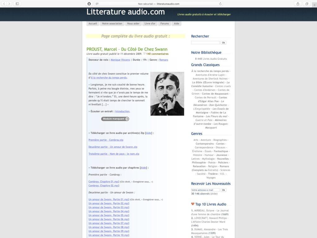 ecouter des Livres audio gratuits sur iPhone avec litteratureaudio