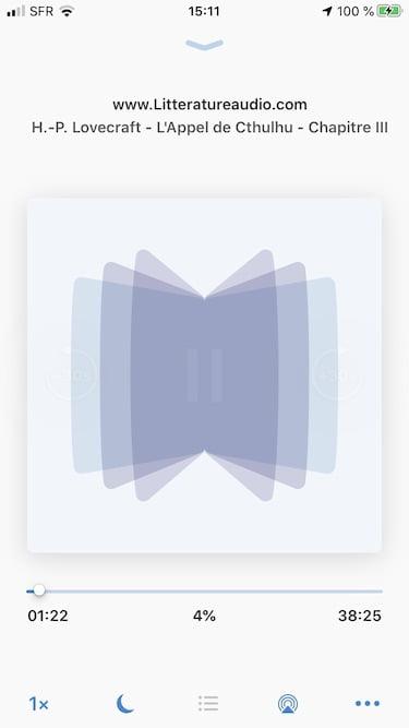 lecture livre audio mp3 sur iphone