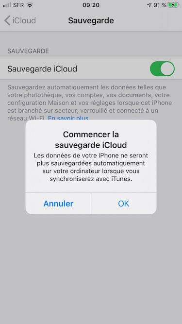 sauvegarde icloud iphone ipad ipod touch comment faire