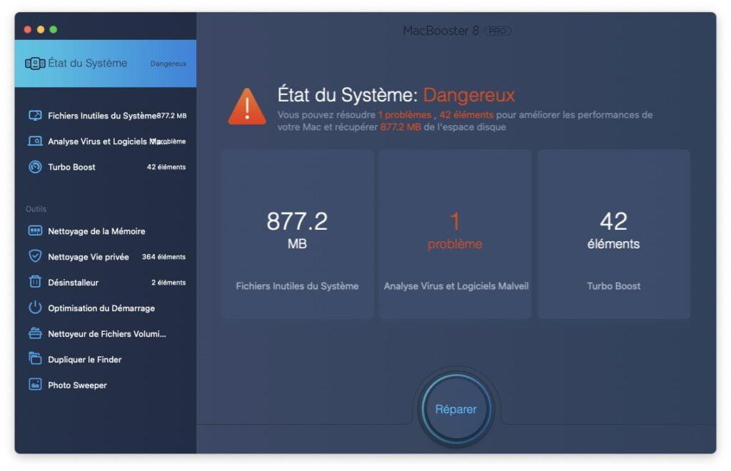 Optimiser macOS Big Sur reparer systeme