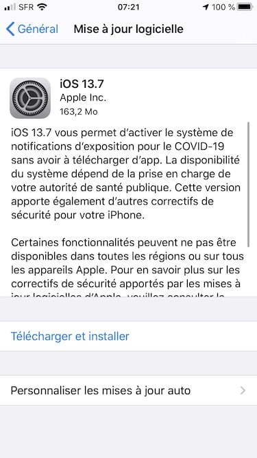iOS 13.7 iPadOS 13.7 telecharger et installer
