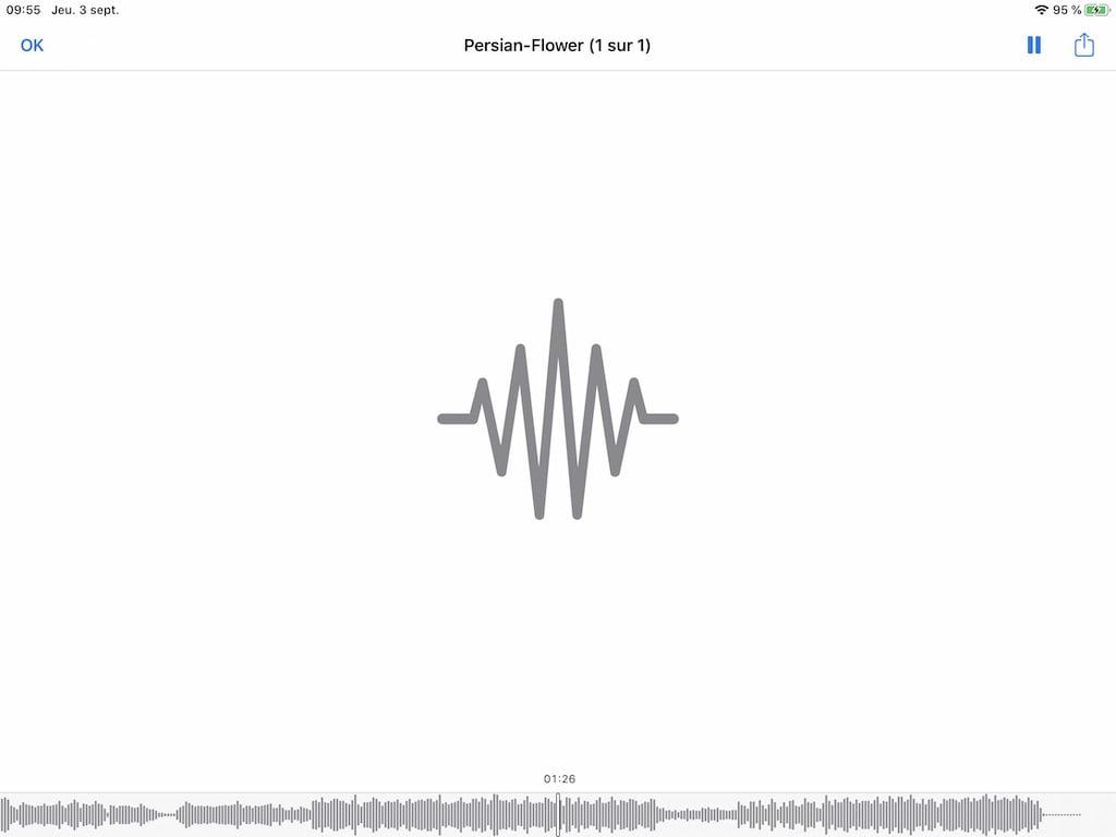 lecture fichier MP3 avec Fichiers iPhone