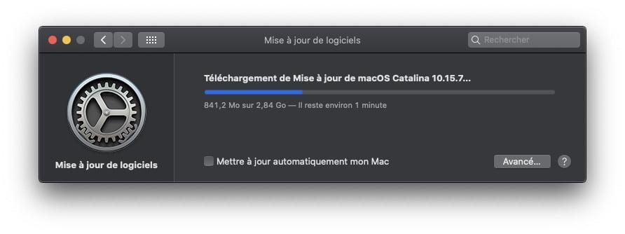 macOS Catalina 10.15.7 disponible pour Mac (liens Standard et Combo) 1