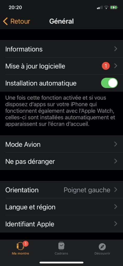 mettre a jour apple watch watchos 7 avec iphone ios 14 e