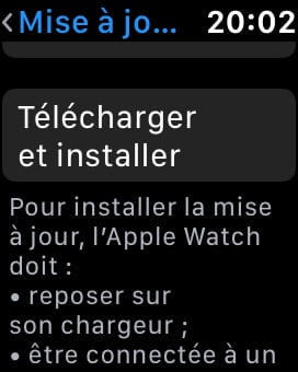 telecharger et installer watchos 7 apple watch