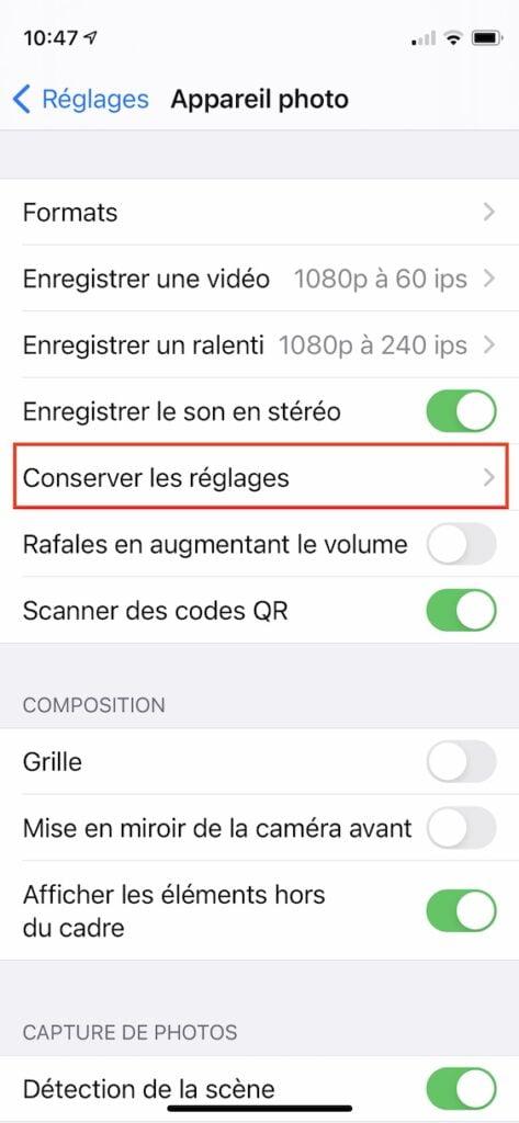 Desactiver totalement Live Photo sur iPhone