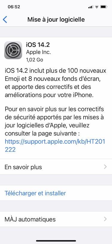 IOS 14.2 installation