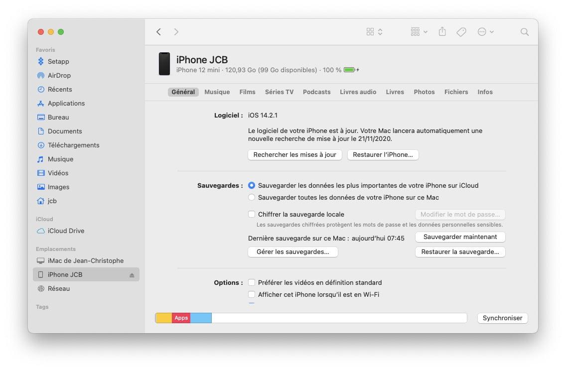 iOS 14.2.1 corrige ecran tactile iphone 12 mini