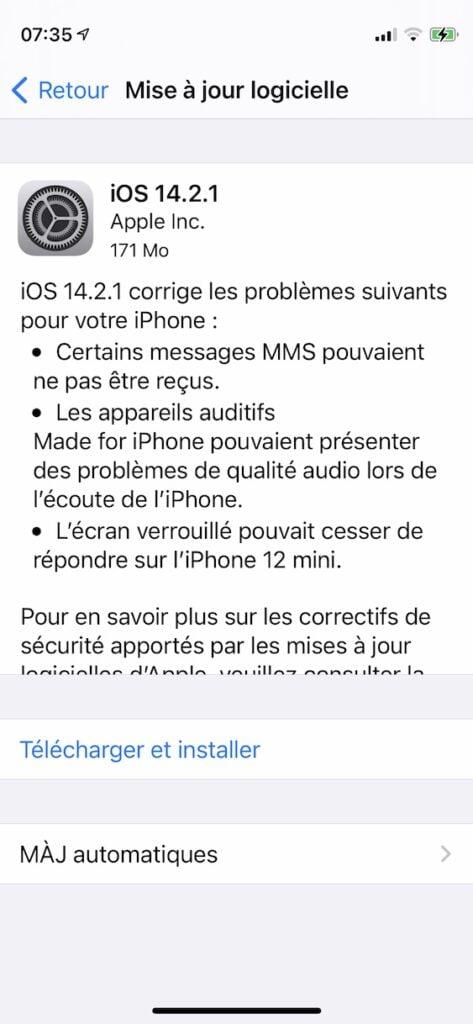 iOS 14.2.1 telecharger
