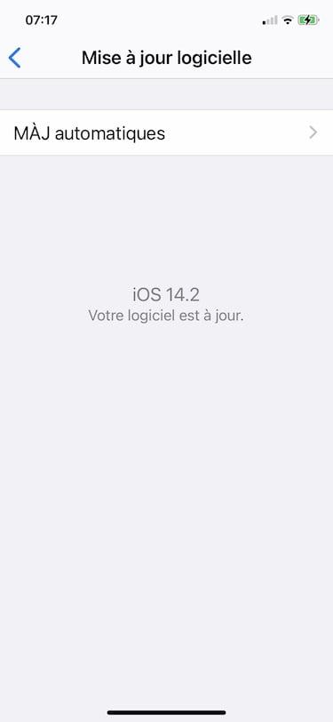 mise a jpur iOS 14.2