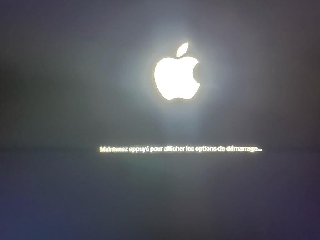 Demarrer Apple Diagnostics sur un Mac Silicon bouton alimentation