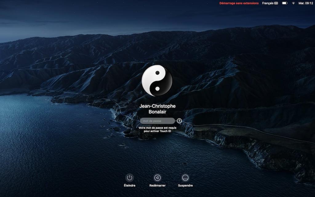 Mac Silicon demarrage sans extensions