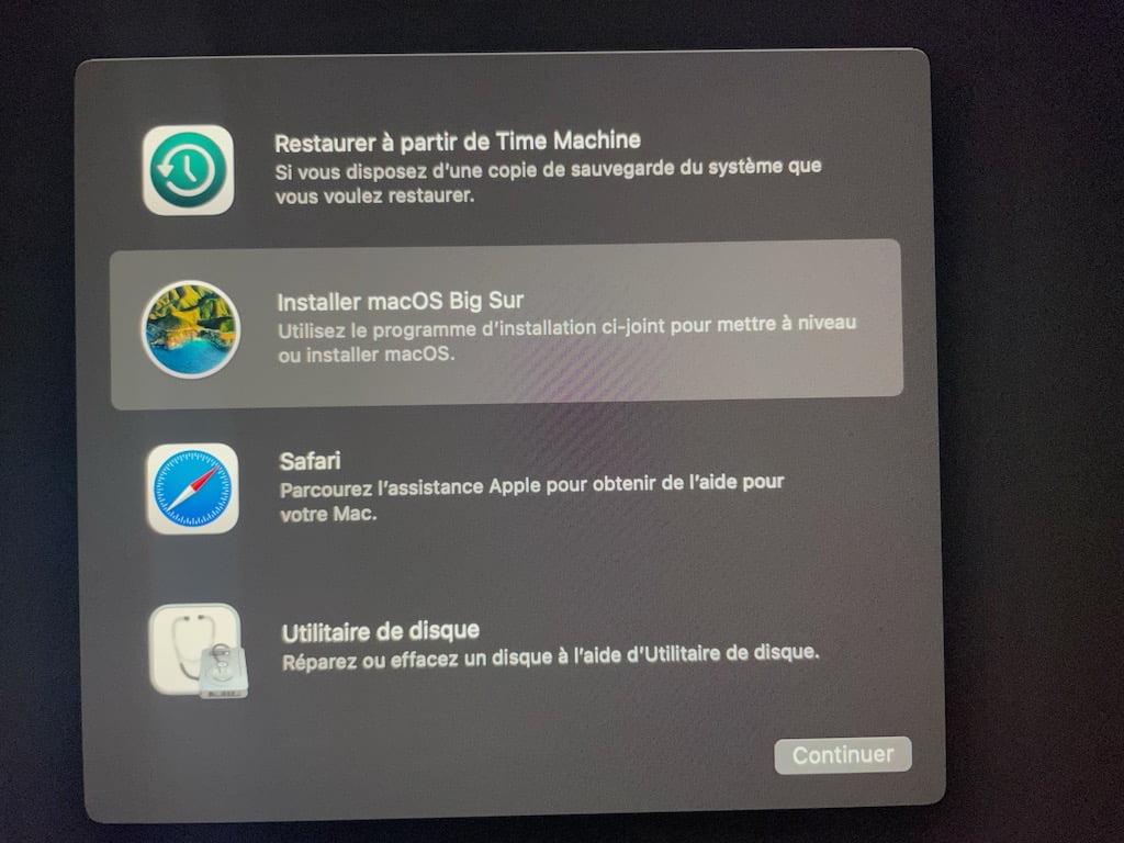 forcer installation macos big sur pour vieux mac non compatible