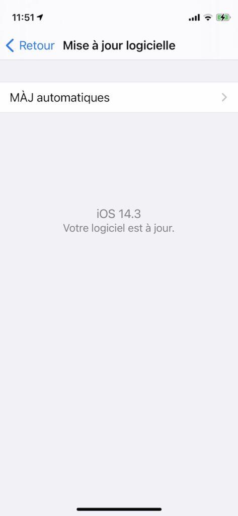 iOS 14.3 maj