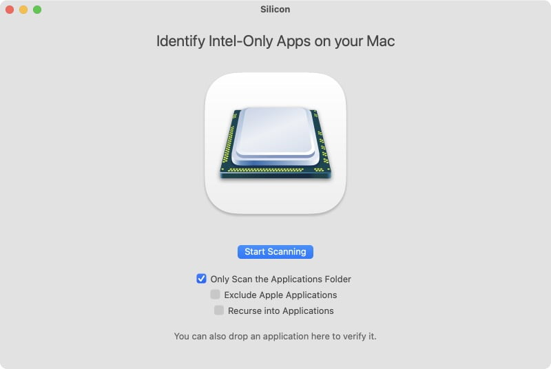 identifier apps intel et silicon mac