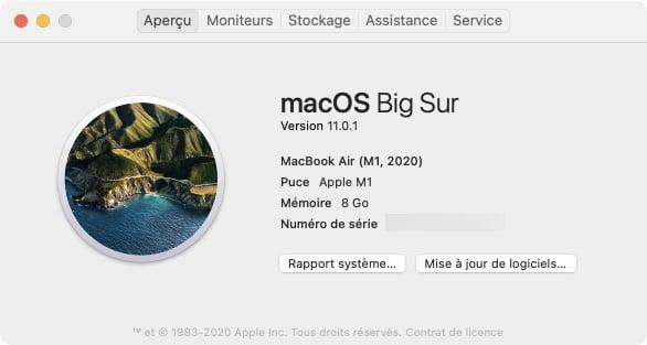 identifier les apps universel et intel avec informations systeme mac apple silicon