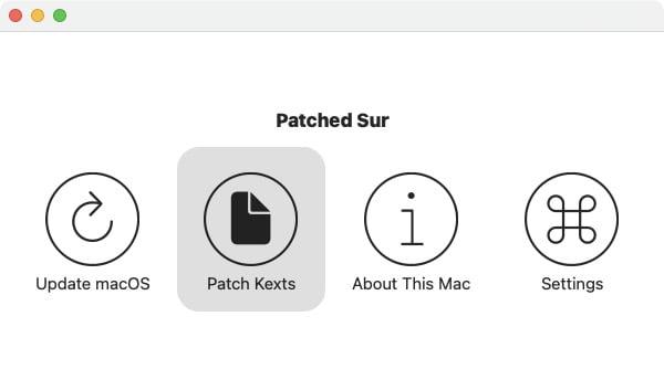 installer patch kexts pour macos big sur