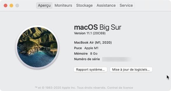 macOS Big Sur 11.1 20c69