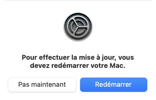 macOS Big Sur 11.1 redemarrer votre mac