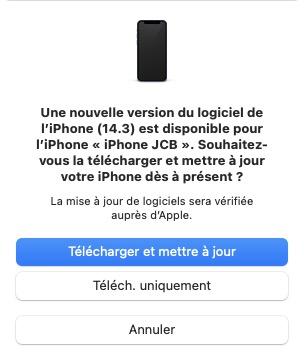mise a jour iPhone iOS 14.3