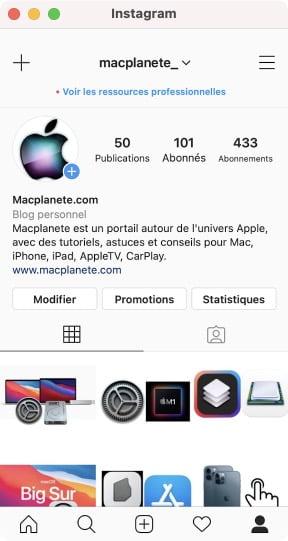 tuto installer Instagram sur macOS Big Sur Apple Silicon