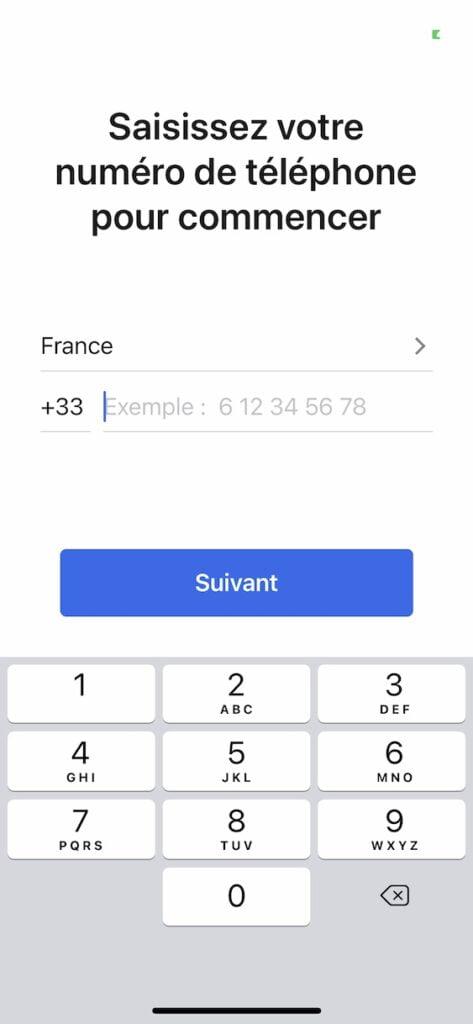 Signal iPhone numero de telephone obligatoire