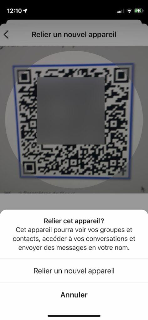 flasher QR Code Signal Mac iPhone