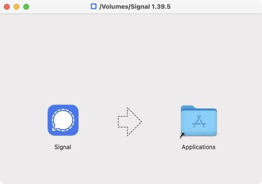 installer Signal sur Mac OS Big Sur