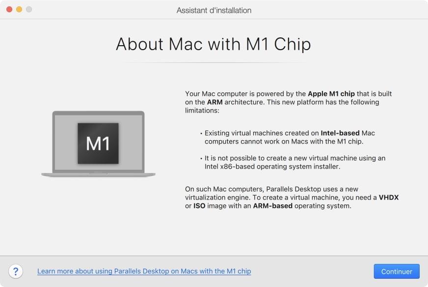 parallels desktop pour apple mac silicon m1