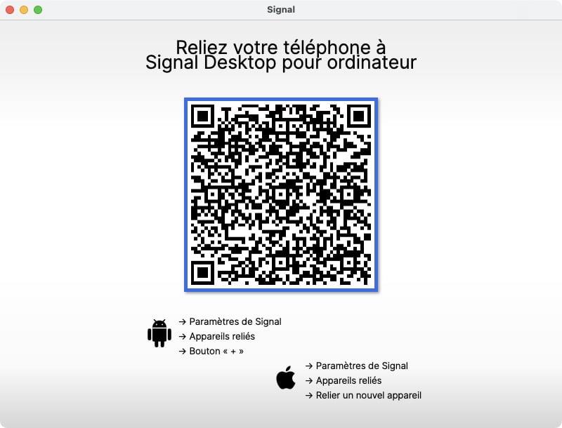 relier SIgnal iPhone a SIgnal Mac Desktop