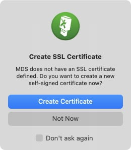 Telecharger macOS complet creer certifcat SSL avec MDS