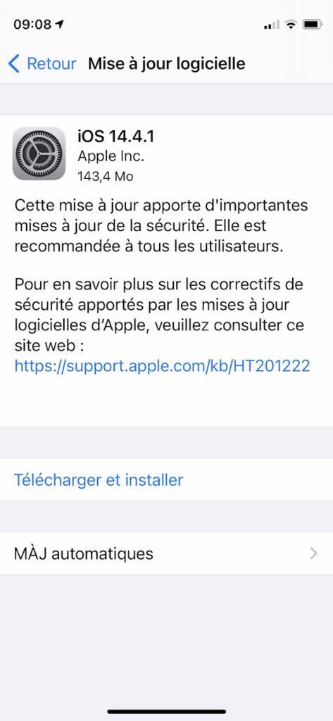 installer iOS 14.4.1