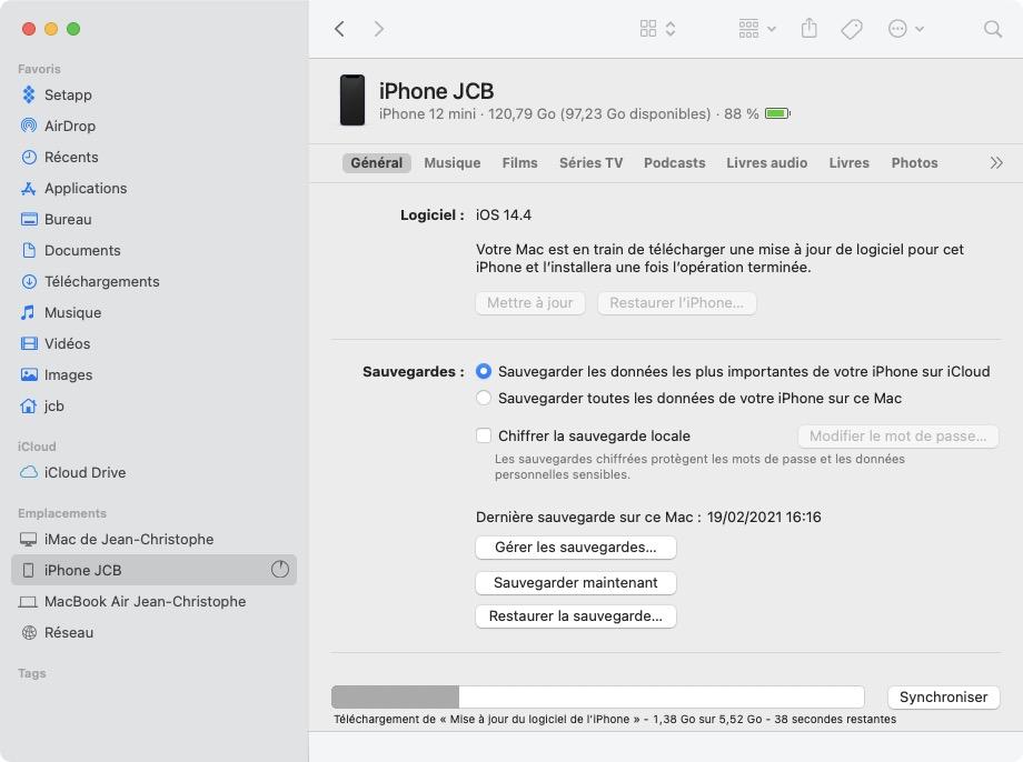ios 14.4.1 telechargement de la mise a jour iPhone