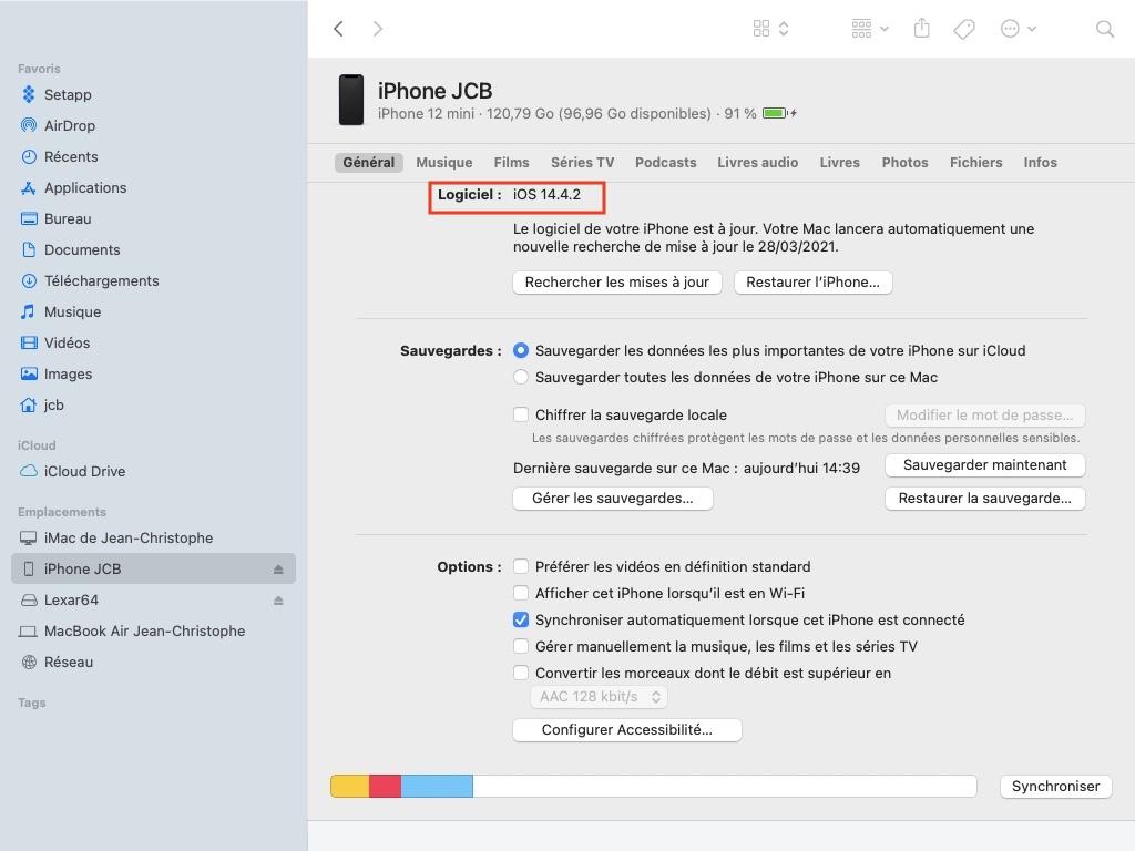 logiciel ios 14.4.2