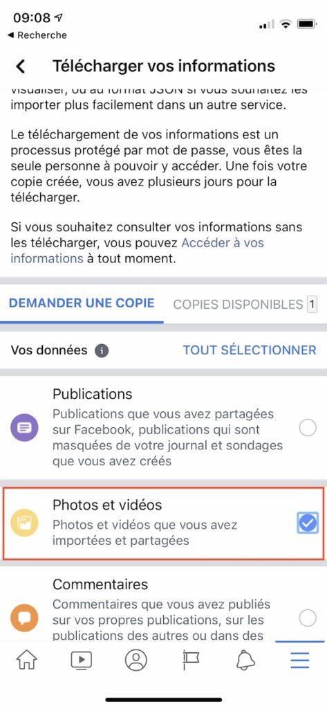 telecharger videos facebook sur iphone