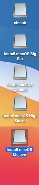 plusieurs versions de macos sur une seule cle usb