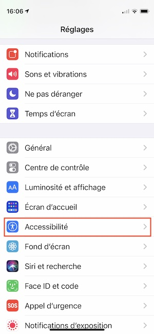 Activer la lecture vocale de texte sur iPhone contenu enonce