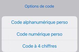 Modifier le code d'accès de son iPhone (désactiver, 6 ou 4 chiffres, alphanumérique)