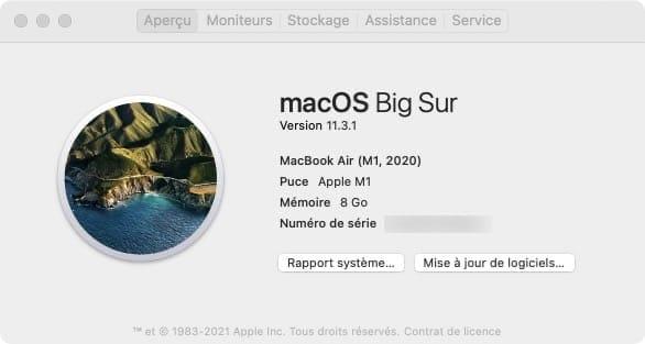 correctif macos big sur 11.3.1 Mac