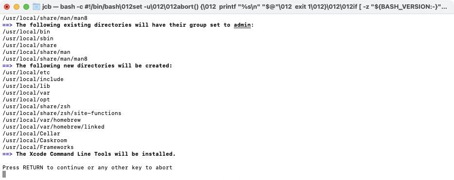 installation homebrew big sur et xcode