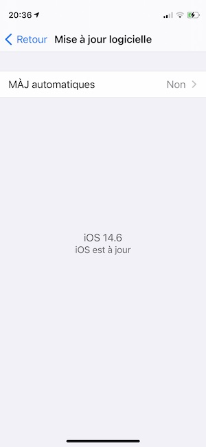 mettre a jour son iphone avec ios 14 6